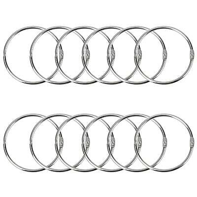 Pawfly 3 Inch Loose Leaf Binder Rings Large Book Ring 12 Pieces