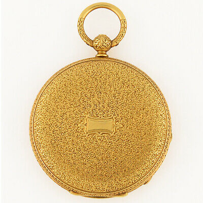 Patek Philippe Tiffany 18K Gold Hunter Case HC Key Wind Pocket Watch 39.5mm 47g