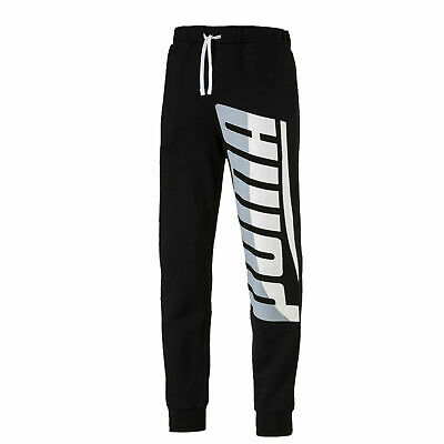 Puma Mens Loud Track Pants Logo Joggers Sweat Lounge Black 577360 01
