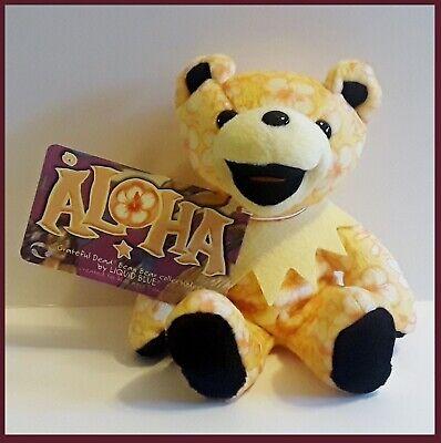 Grateful Dead Dancing BEAR Plush Beanie Baby Aloha 8th Ed Aloha Bear Plush