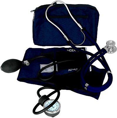 Blood Pressure Cuff Sprague Stethoscope Kit Nurse Emt Adult Sphygmomanometer