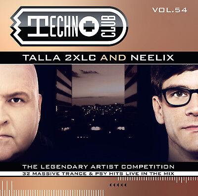 CD Techno Club Vol. 54 Mixed By Talla 2xlc & Neelix 2CDs