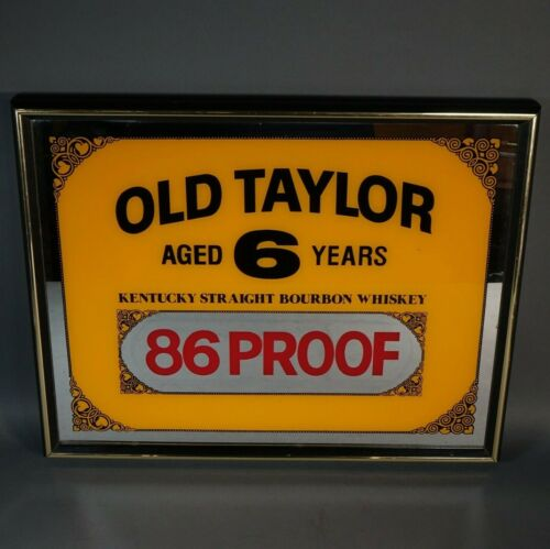 "Rare OLD TAYLOR Mirror Sign KENTUCKY STRAIGHT BOURBON WHISKEY 17"" x 21"""