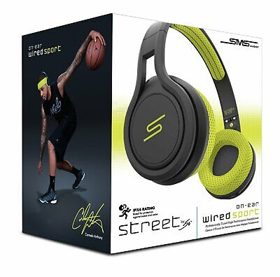 SMS Audio Street by 50 cent Wired On-Ear Sport Headphones - Yellow new sealed (Sms Audio Street By 50 On Ear)