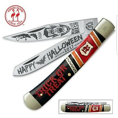 Kissing Crane KC5388 LE 2017 Halloween Tribute #288 Trapper Knife 4