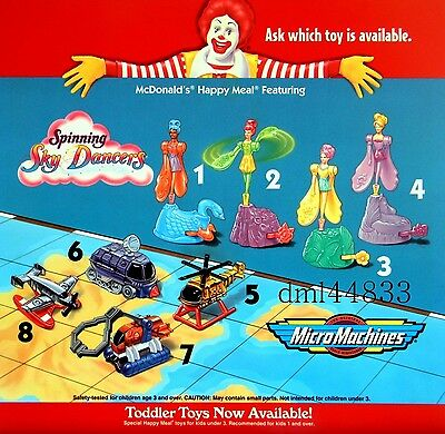 1997 McDonalds Skydancers MIP Complete Set - Lot of 4, Girls, 3+