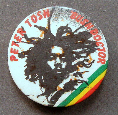 "PETER TOSH BUSH DOCTOR 1.75"" celluloid pinback button REGGAE"