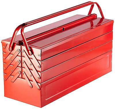 LASER TOOLS CLEAROUT RED METAL TOOLBOX Tool Box Cantilever 7 Tray LARGE 530mm