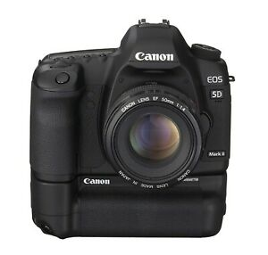Canon 5d mark II body, authentic Canon grip and battery