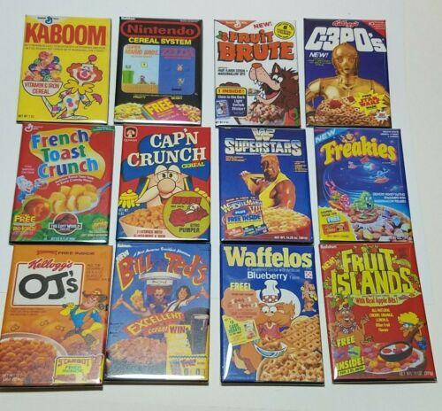 "2"" x 3"" Retro Cartoon Cereal Box Refrigerator / Locker Magnet - You Choose - NEW"