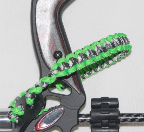 Neon Green and Urban Camo Bling Sling bow wrist strap FREE SHIP Mathews bowtech