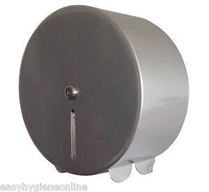 Metal Mini Jumbo Silver Steel Toilet Loo Paper Rolls