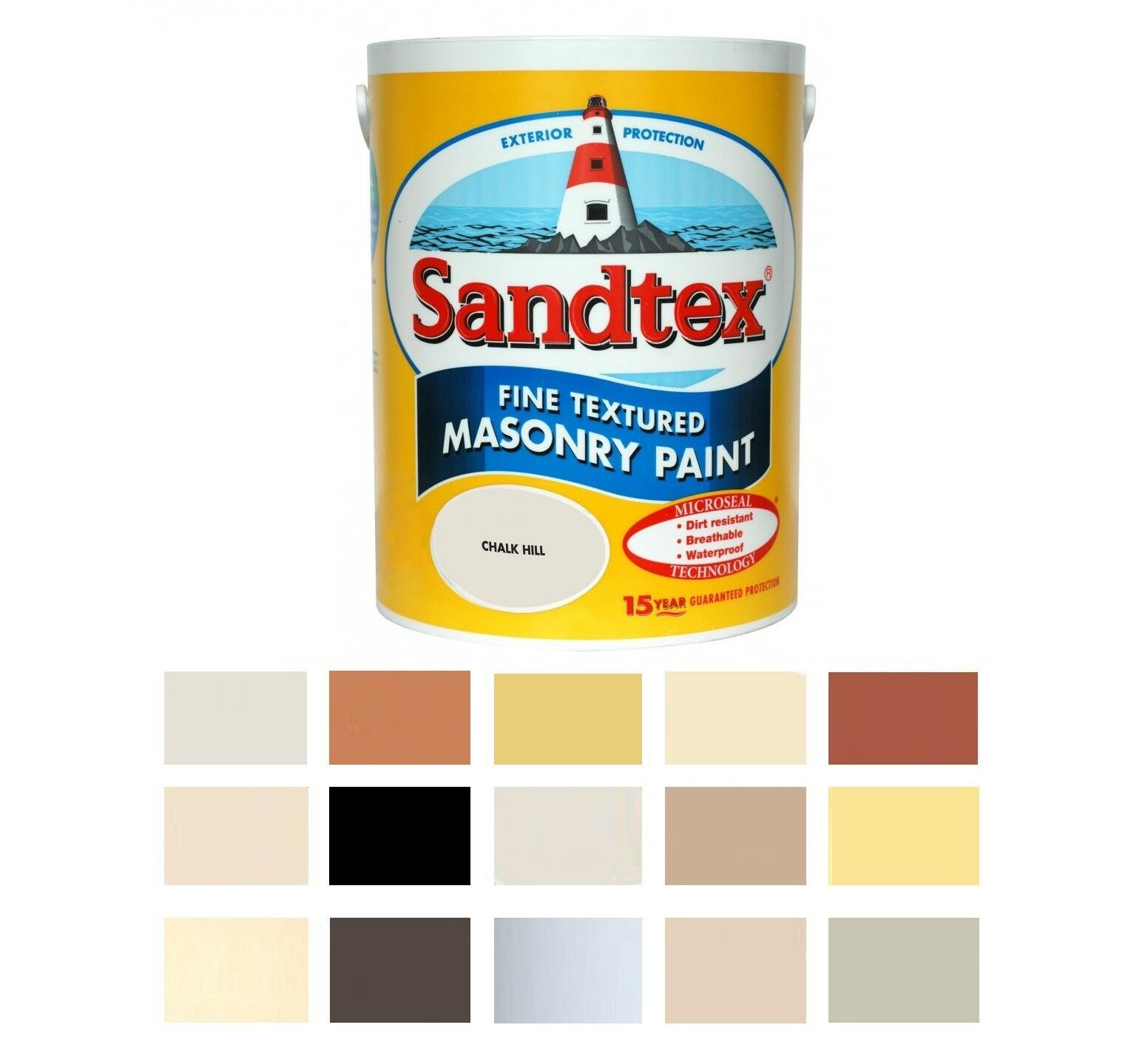 Sandtex Masonry Paint 5L Fine Textured Quality Waterproof 15
