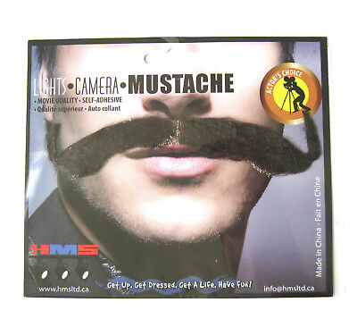 Muskateers Brown Adult Costume Handlebar Mustache Adult Costume Accessory