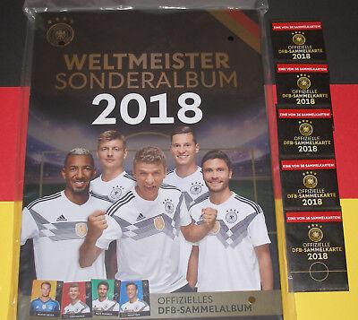 Rewe Sammelalbum DFB WM 2018 NEU und OVP! Weltmeister Sonderalbum + 5 Karten