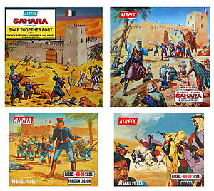 Airfix HO-OO Fort Sahara, Foreign Legion, & Arabs set of Posters Box Art