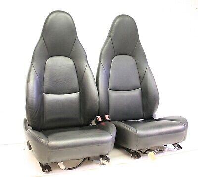 Mazda MX5 (89-05) BLACK HEATED LEATHER SEATS - PAIR - Triumph TR kit car