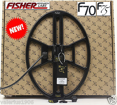 "New NEL THUNDER 14.5""x10.5"" DD search coil for Fisher F70/F75 + cover + fix bolt"