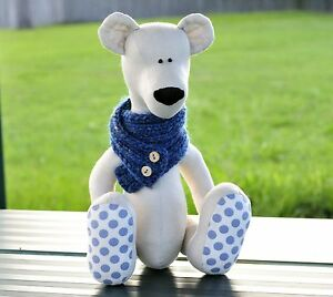 Polar Bear Teddy soft toy sewing pattern softie plushie sewing pattern CD