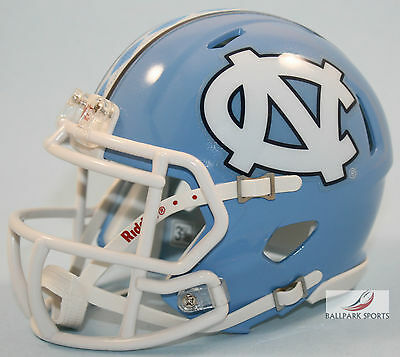 NORTH CAROLINA TAR HEELS (Argyle Stripe) Riddell Speed Mini (Carolina Helmet)