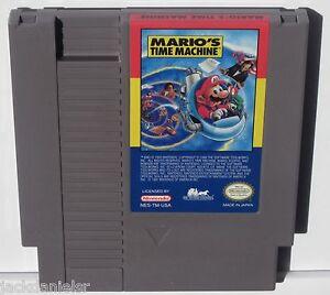 MARIOS-TIME-MACHINE-Nintendo-NES-Video-Game-Cartridge-vg-nm-cond-rare-classic