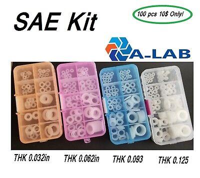 Sae Nylon Washer Kit 14 516 38 12 100pcs Assorted Imperial