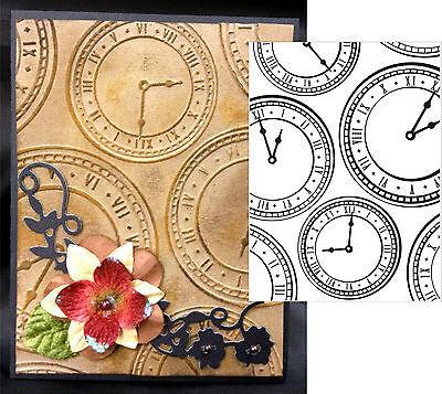 Clock Background Embossing Folder Darice embossing folders 1218-01