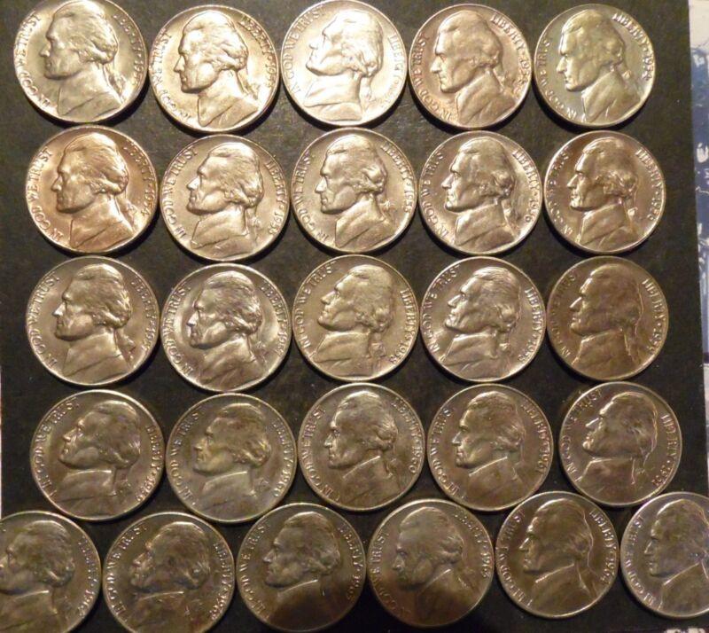 1953-PDS thru 1964-PD Jefferson Nickel Choice/Gem BU Uncirculated Date Set