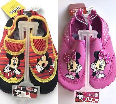 Disney Swim Shoes (Kids Mickey Mouse Minnie Water Shoes Disney Swim Red Black Pink 5 6 7 8 9 10 11)