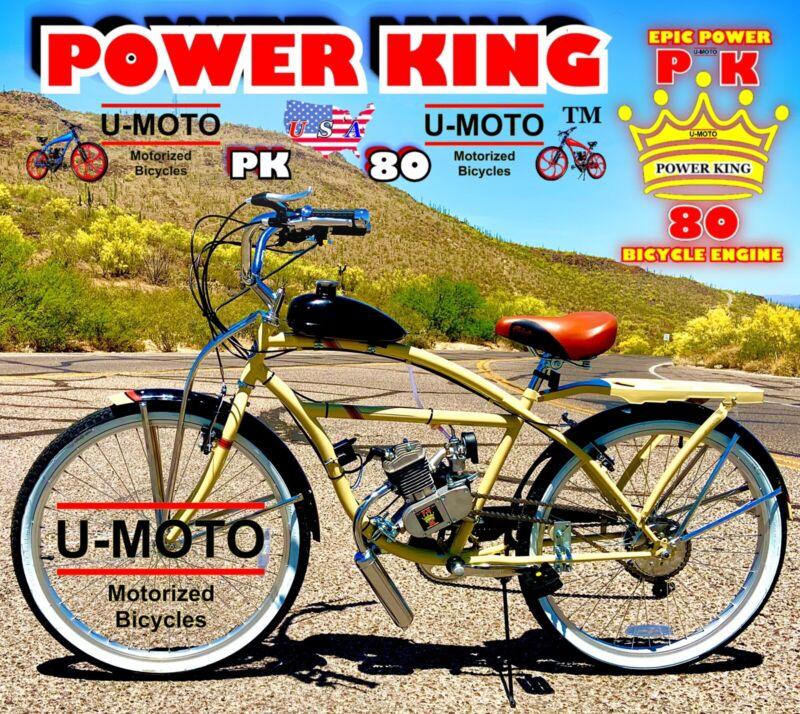 "2-STROKE 66CC/80CC MOTORIZED BIKE KIT WITH 26"" CRUISER BICYCLE HIGH PERFORMANCE"
