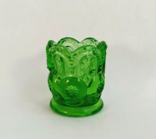LE SMITH MOON AND STAR APPLE GREEN TOOTHPICK HOLDER VINTAGE