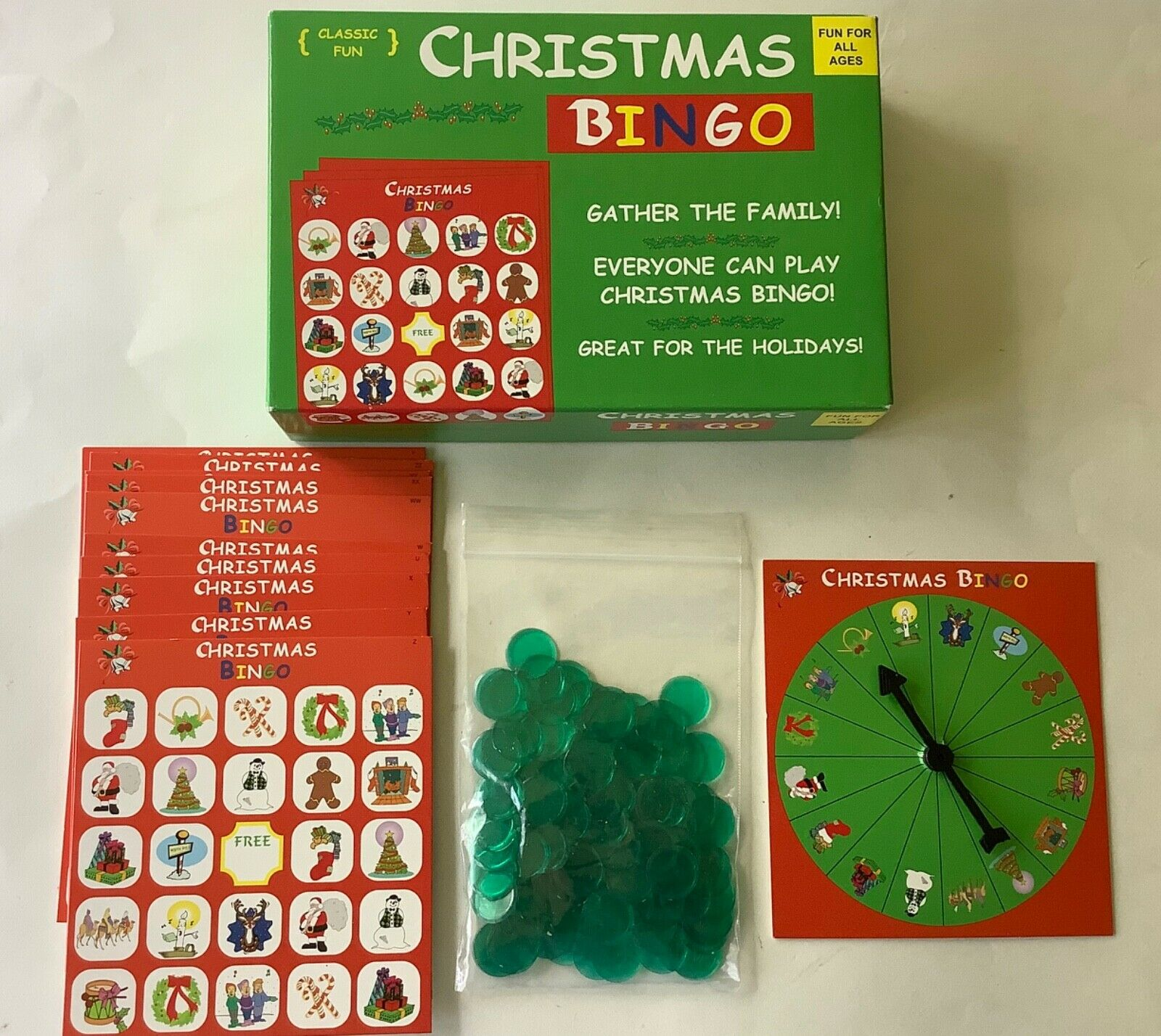 Christmas Bingo by Anton Holiday Game For The Entire Family