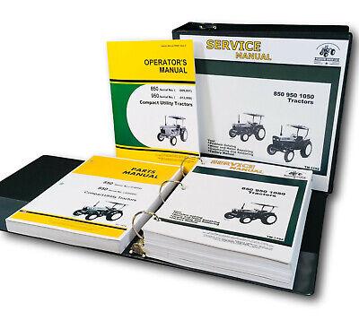 Service Manual Set John Deere 850 950 Tractor Parts Operators Owners Catalog