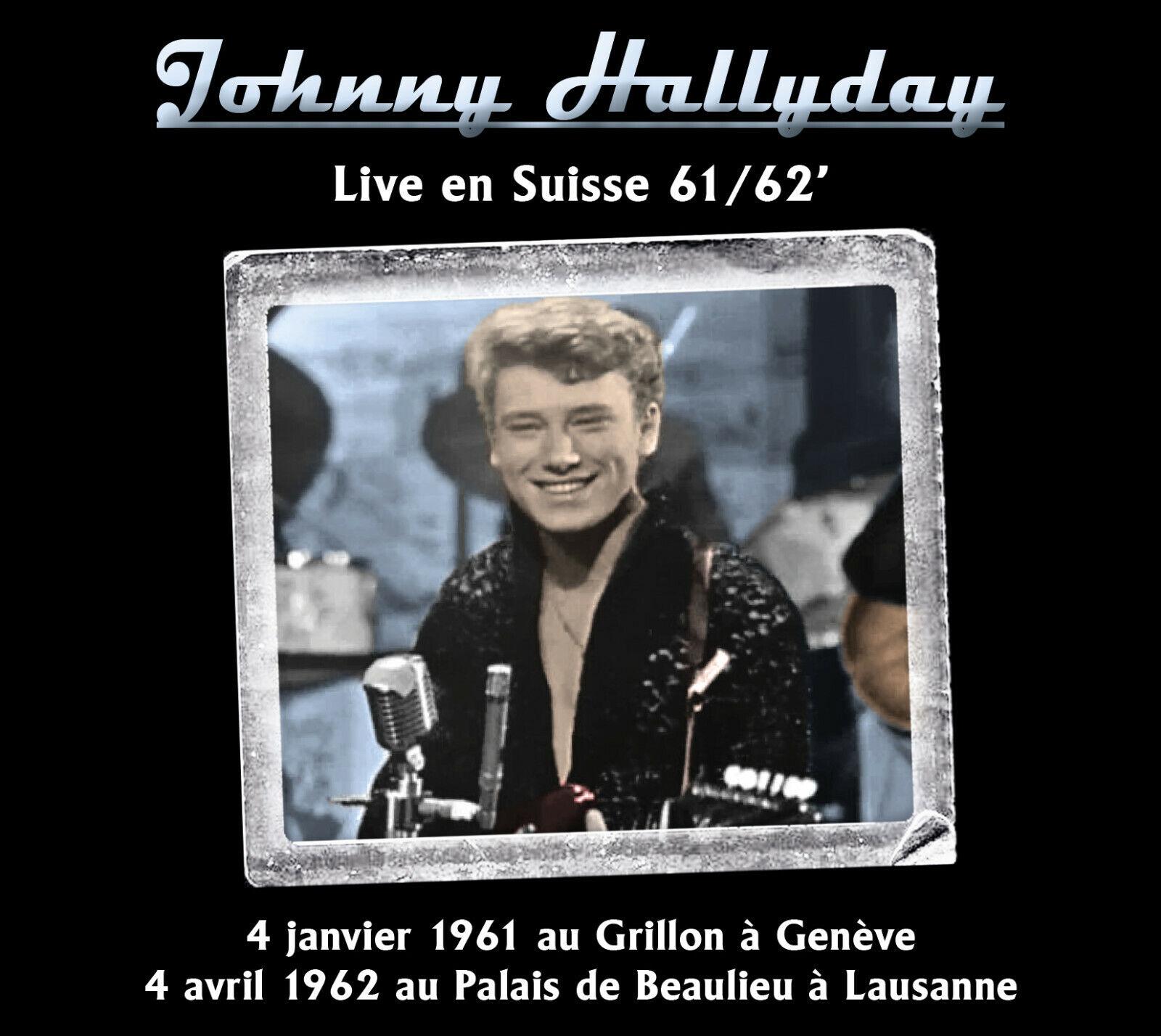 cd johnny hallyday : live en suisse 61/62' - digipack limité à 200 exemplaires