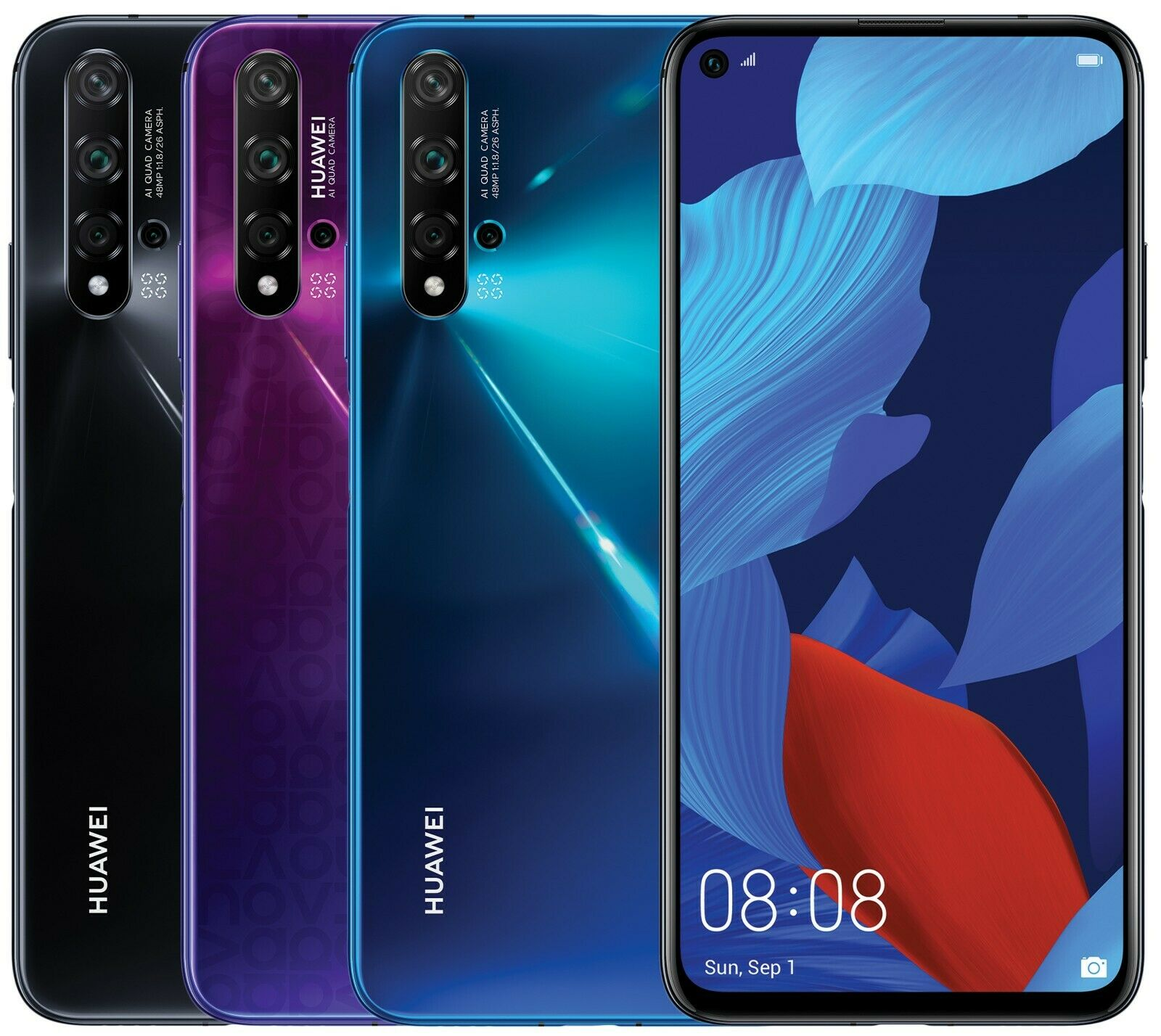 Huawei Nova 5T YAL-L21 128GB 8GB RAM (FACTORY UNLOCKED) 6.26