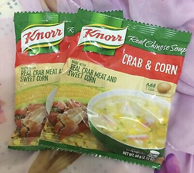 10pcs 60g  KNORR Crab & Corn Soup- Free Shipping to US