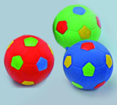 Latex Fußball f Hund Spielball Latexball Ø 4,6 cm Ball Quietscher Hundespielzeug (Spiel Hund)