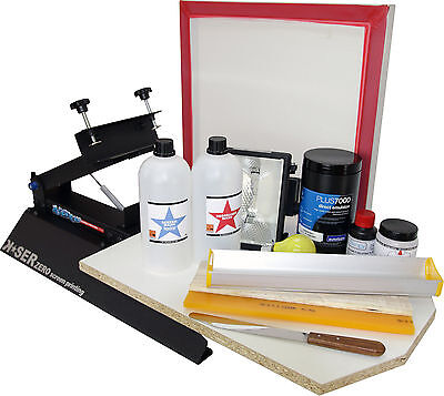 Screen Printing T-shirt Press Frame Squeegee Emulsion Exposure Set Machine Kit