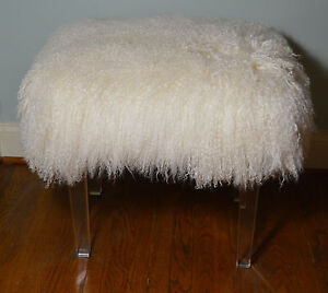 Acrylic Stool With Fur