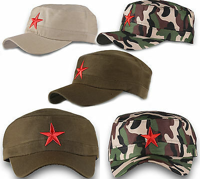 Castro Military Hat (Russian Red Star Army Camouflage Hat Fidel Castro MILITARY Baseball Cap)
