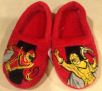 Slippers Power Rangers boys size 7-8M new Disney toddler red fabric upper