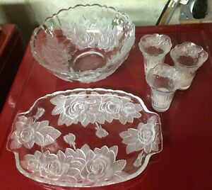 Winter Rose Serving Dishes For Sale
