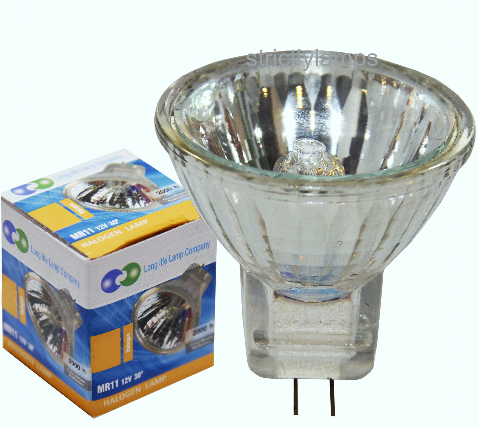 long life mr11 halogen light bulbs 12v lamp 5w or 7w or 10w or 20w or 35w ebay. Black Bedroom Furniture Sets. Home Design Ideas