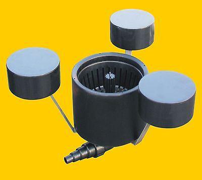 Osaga Oberflächenabsauger Schwimmskimmer Skimmer für Teich mit Filterkorb