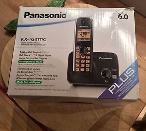 Panasonic Cordless Phone Black Digital