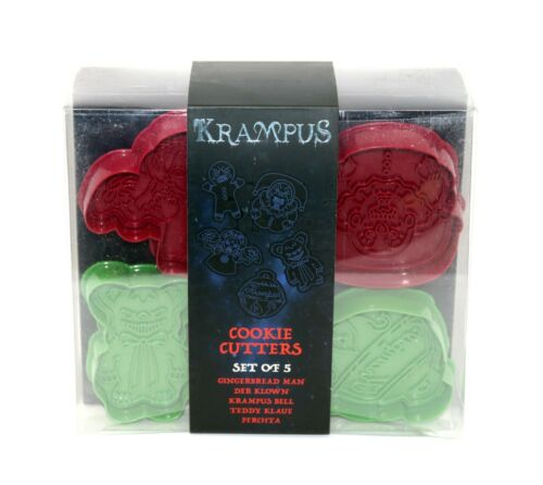 Krampus Holiday Cookie Cutters Set of 5 Loot Fright Crate Exclusive NEW in BOX