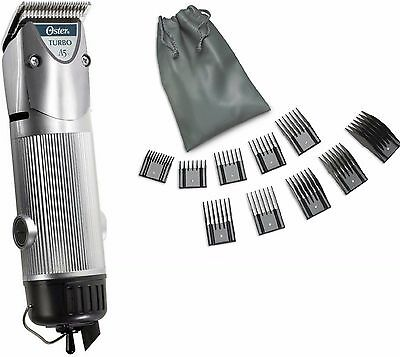 Oster Silver A5 2-Speed Turbo Animal dog horse Clipper/Blade/10pc Universal Comb