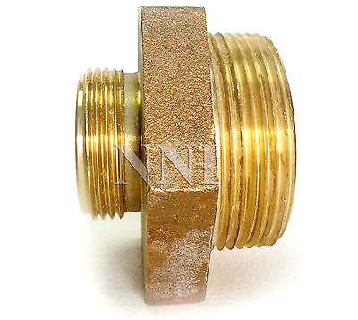 Fire Hosehydrant Brass Hex Adapter 2-12 Mnpt X 1-12mnst