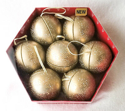 Ornaments, Tin Gift Baubles, 2 7/8
