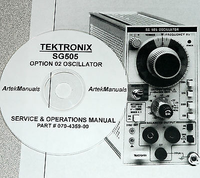 Tektronix Sg505 Opt 02 Instruction Serv. Ops Manual